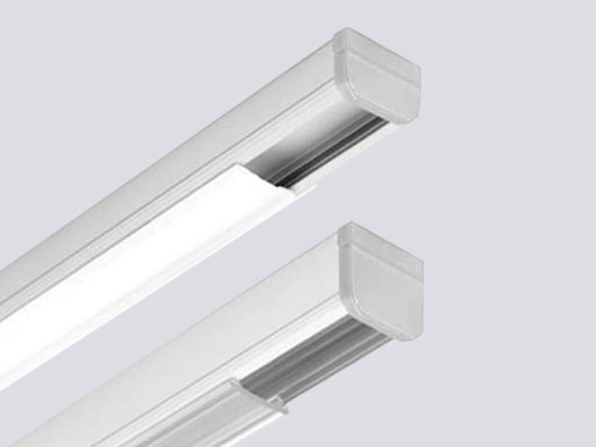 Ceiling mounted aluminium Linear lighting profile for LED modules LINE MINI P by ONOK Lighting