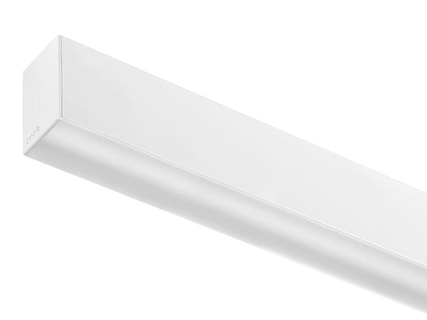 Fluorescent extruded aluminium ceiling lamp LINE P by ONOK Lighting