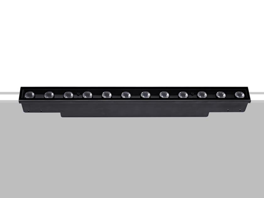 Segnapasso a LED a pavimento in metallo per esterni LINE UP LENS by Flexalighting