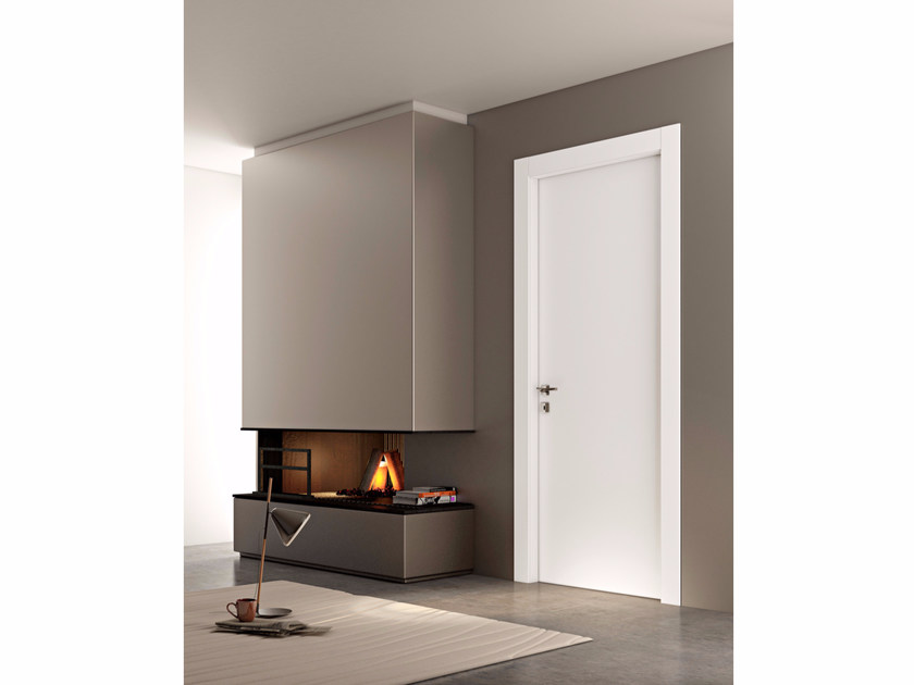 Hinged wooden door LINEA | Hinged door by Pail Serramenti