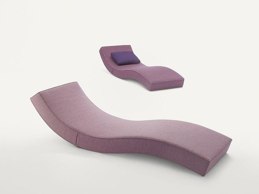 Fabric lounge chair LINEA by paola lenti