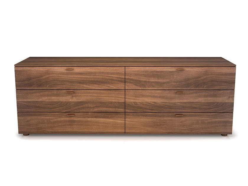 Walnut chest of drawers LINEA | Walnut chest of drawers by Huppé