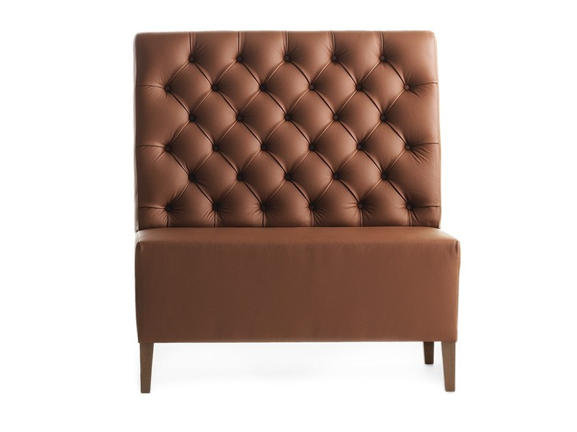 Tufted modular high-back bench LINEAR 02451K by Montbel