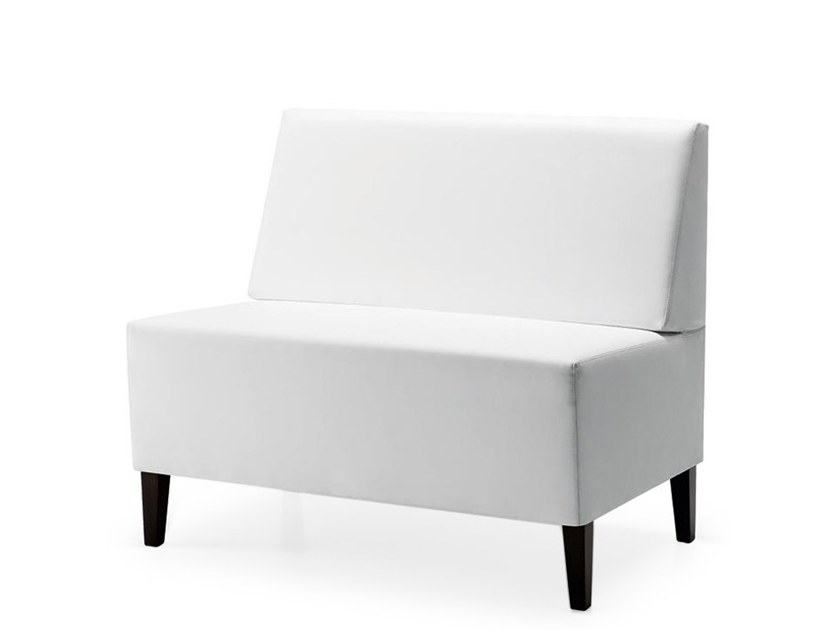 Upholstered modular bench LINEAR 02452 by Montbel
