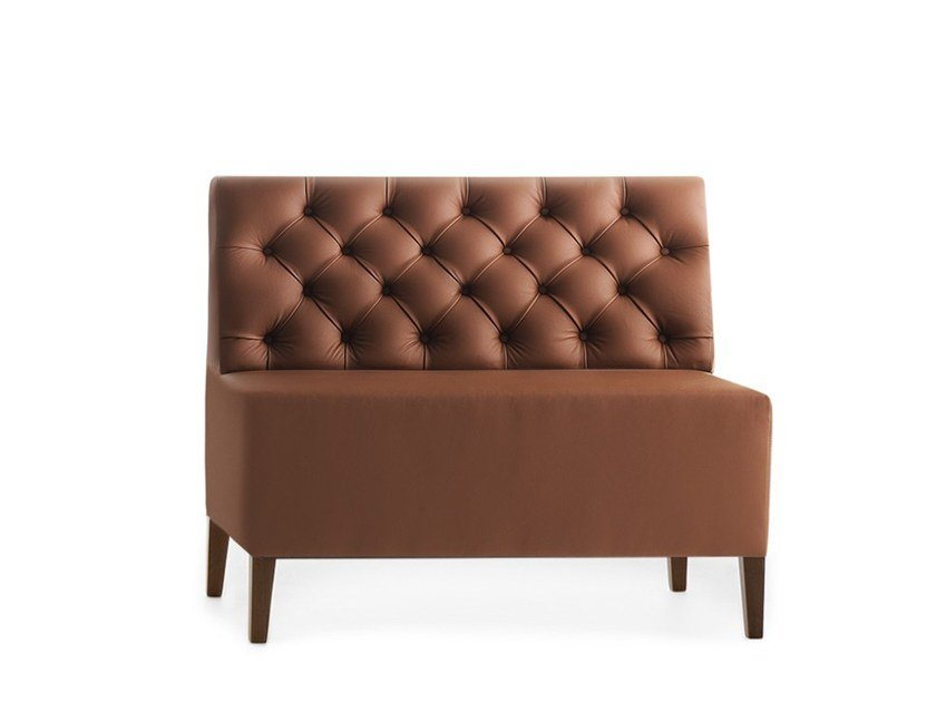 Tufted modular bench LINEAR 02452K by Montbel