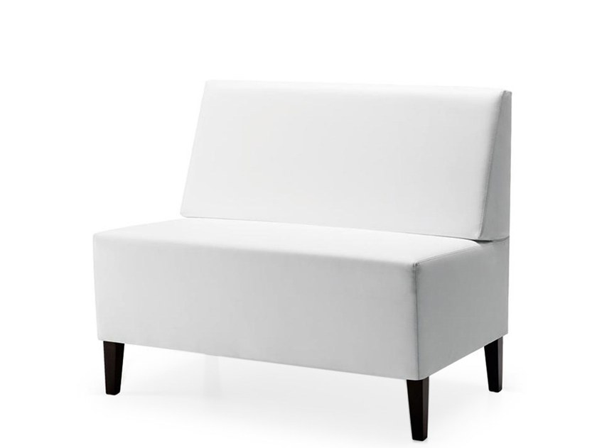 Upholstered modular bench LINEAR 02454 by Montbel