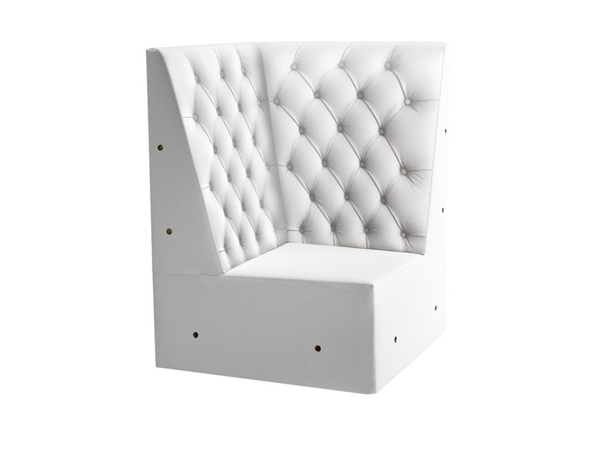 Corner tufted modular armchair LINEAR 02455K by Montbel