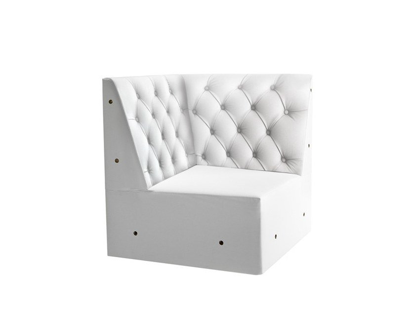 Corner tufted modular armchair LINEAR 02456K by Montbel