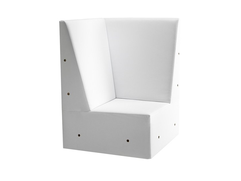 Corner modular high-back armchair LINEAR 02457 by Montbel
