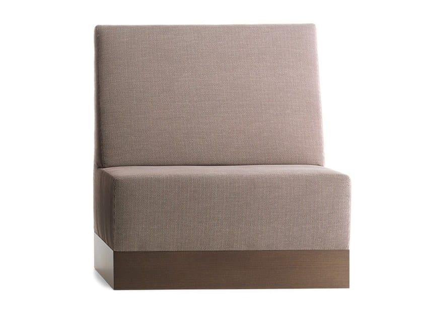 Upholstered modular high-back bench LINEAR 02481 by Montbel