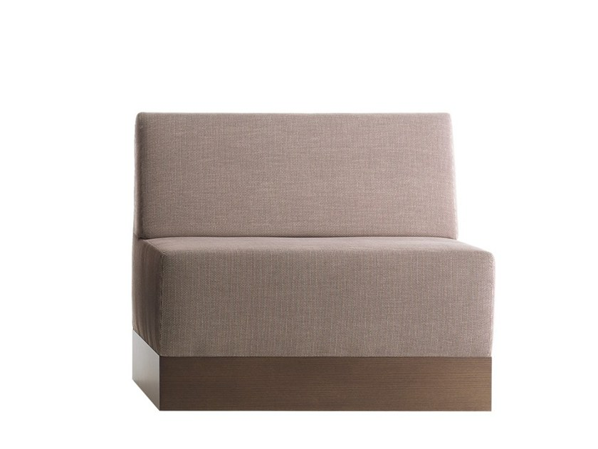 Upholstered modular bench LINEAR 02482 by Montbel