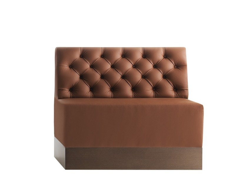 Tufted modular bench LINEAR 02484K by Montbel