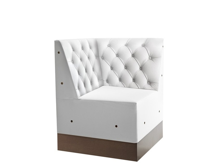 Corner tufted armchair LINEAR 02488K by Montbel