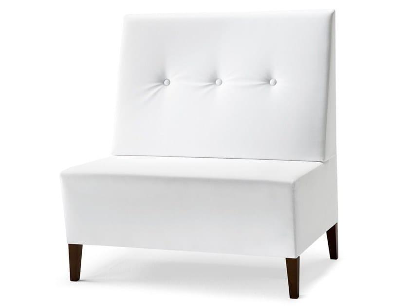Upholstered modular high-back bench LINEAR 02953 by Montbel