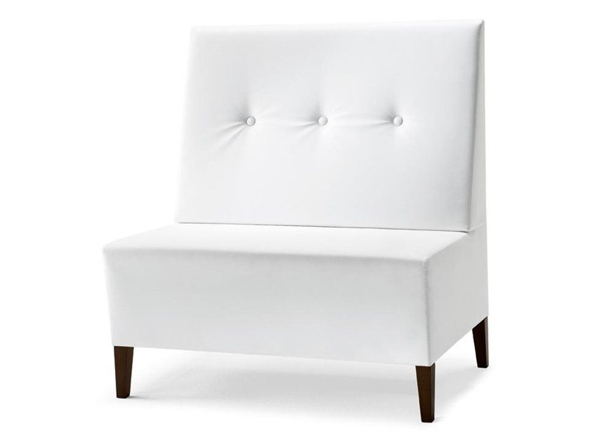 Upholstered modular bench LINEAR 02954 by Montbel