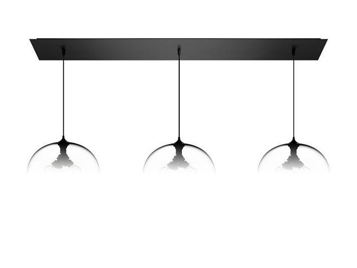 Lampada a sospensione a luce diretta fatta a mano in vetro soffiato LINEAR-3 LARGE by Niche Modern