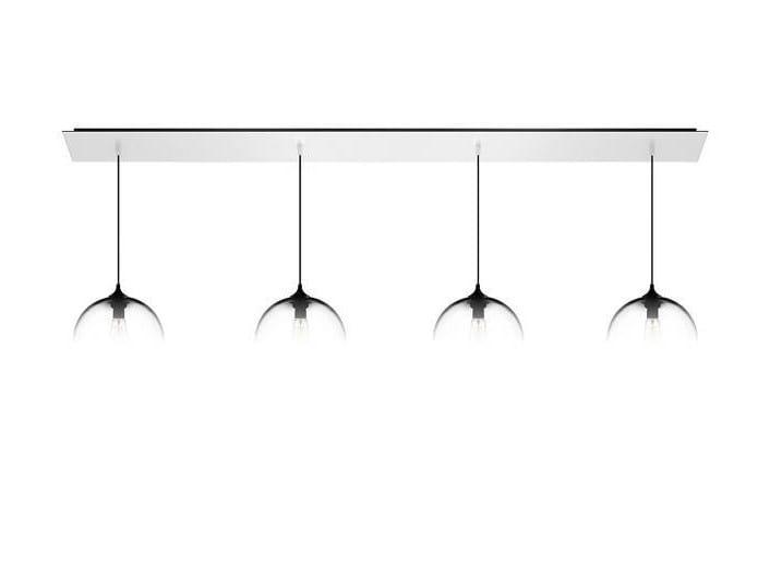 Direct light handmade blown glass pendant lamp LINEAR-4 by Niche Modern