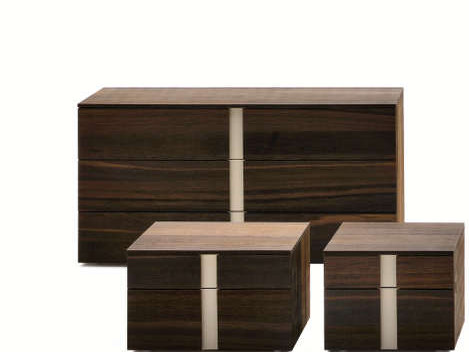 Wooden chest of drawers LINEAR | Chest of drawers by Silenia