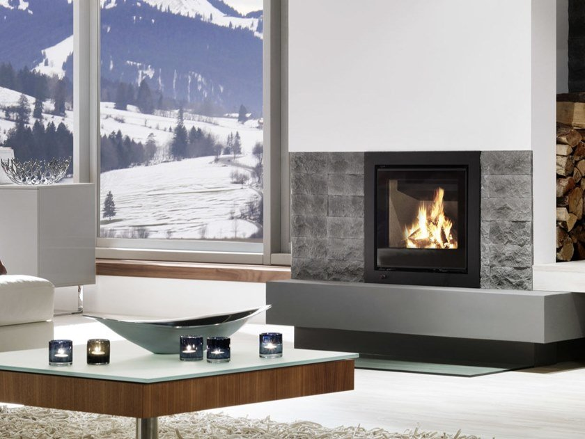 Wood Burning Fireplace Insert Linear Kassette Xs 500 By