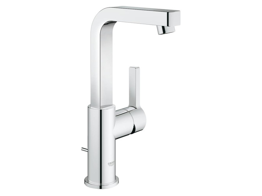 Countertop single handle washbasin mixer with adjustable spout LINEARE SIZE L | Washbasin mixer by Grohe