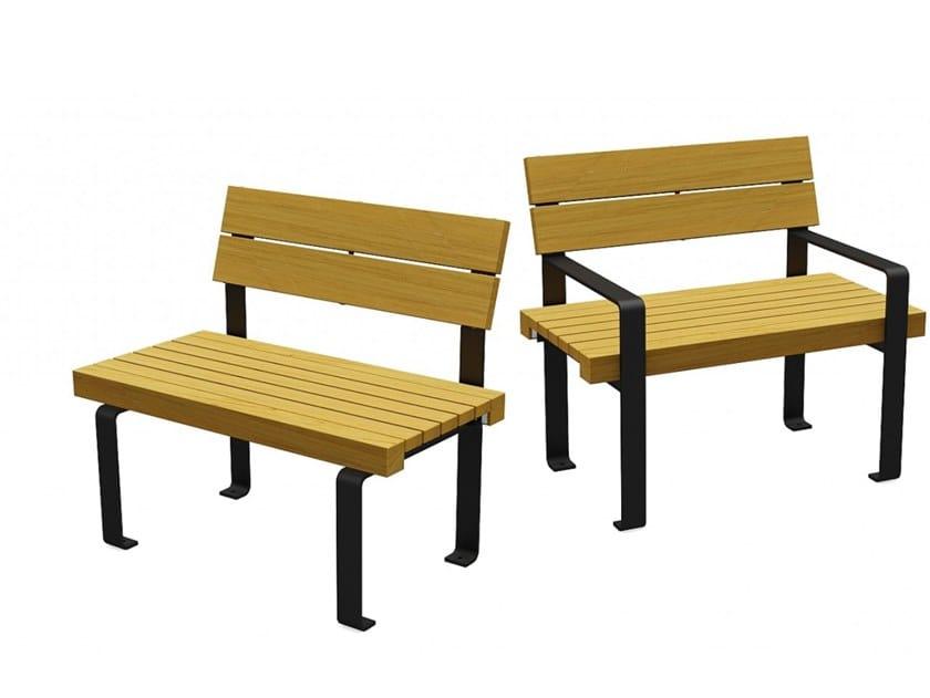Seduta da esterni in legno LINEASEDIA LIGHT by Euroform W