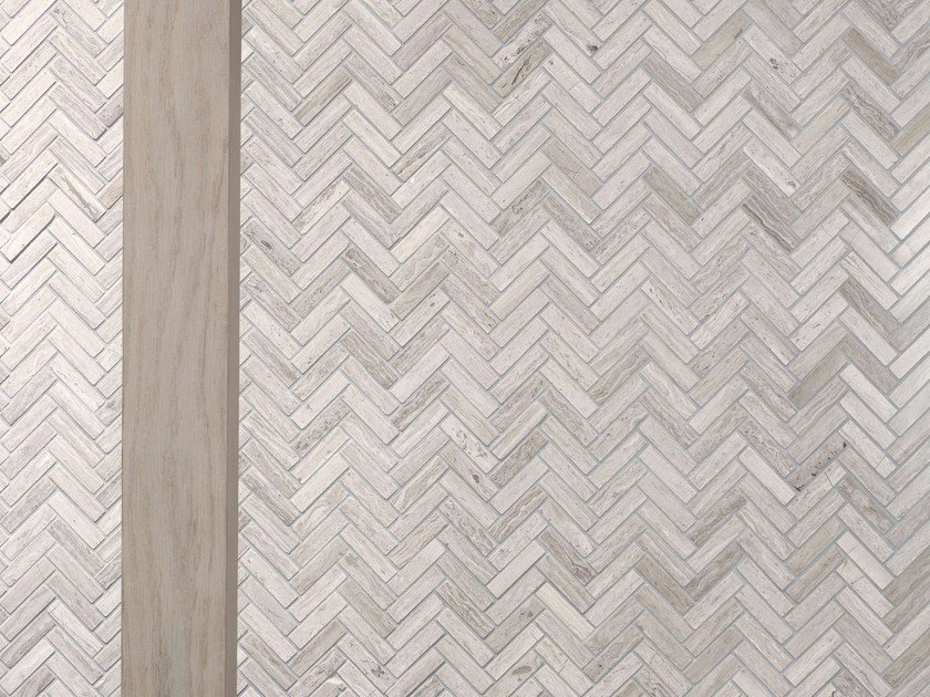 Natural stone mosaic LINES by L'ANTIC COLONIAL