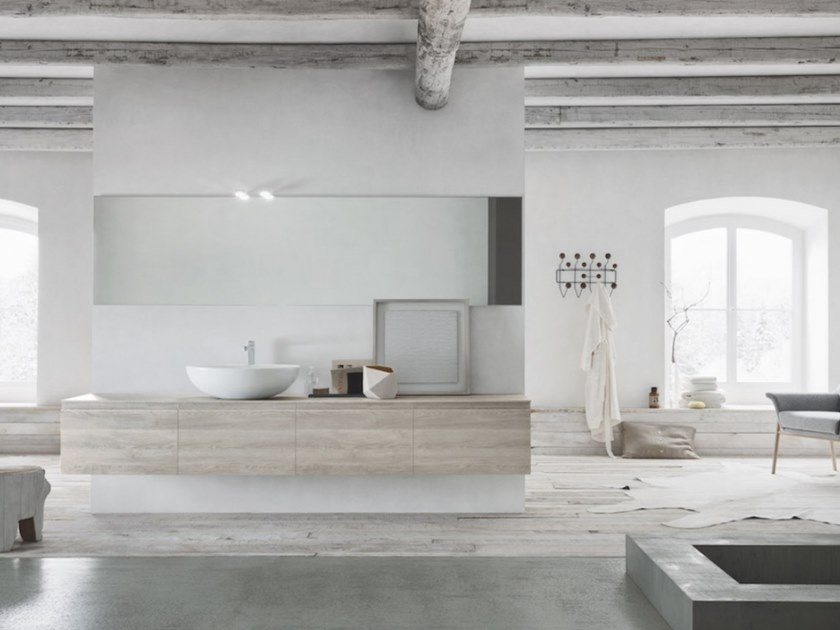 Wall-mounted vanity unit LINFA 01 by Arbi Arredobagno