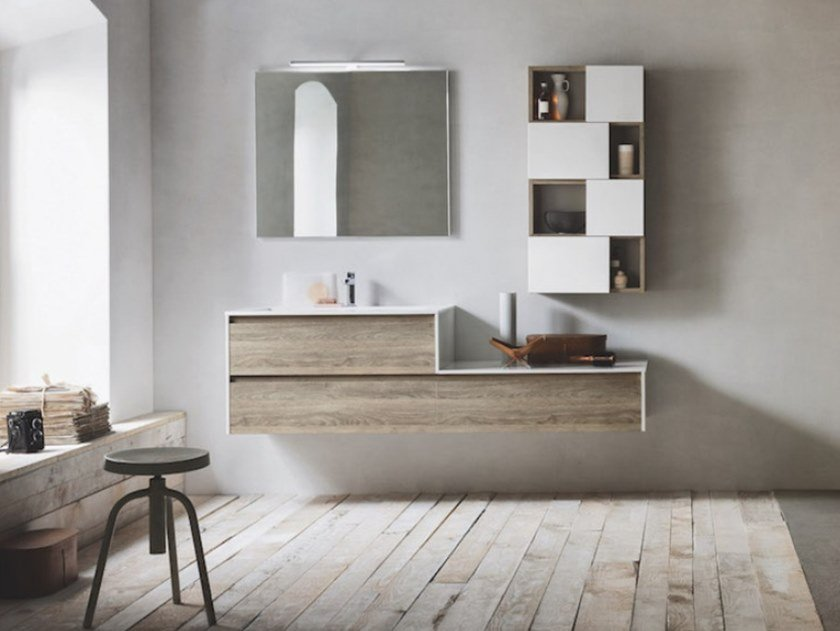 Wall-mounted vanity unit LINFA 03 by Arbi Arredobagno