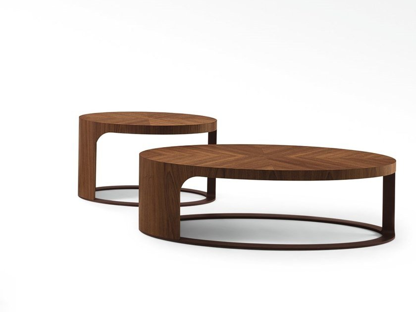 Oval wooden coffee table LING | Oval coffee table by GIORGETTI