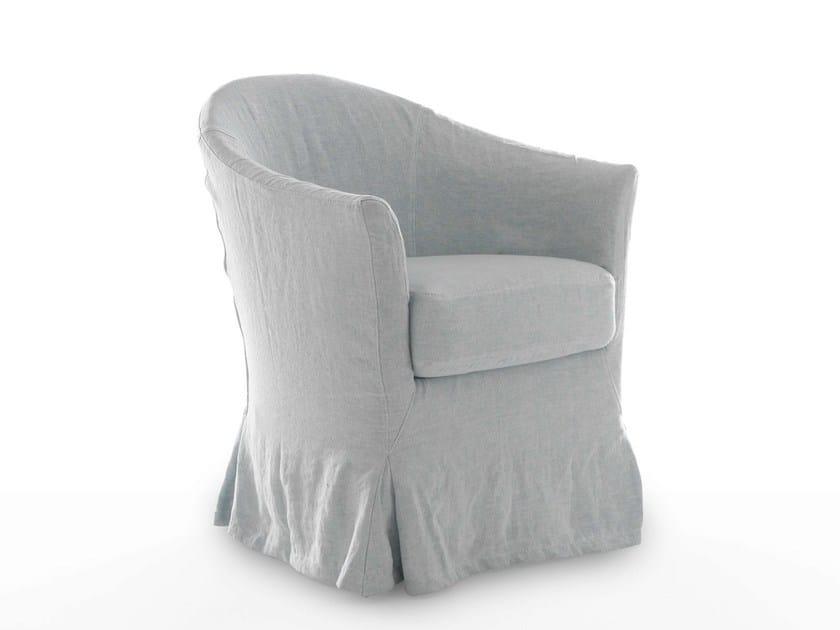 Fabric easy chair LINOSA by Bolzan Letti