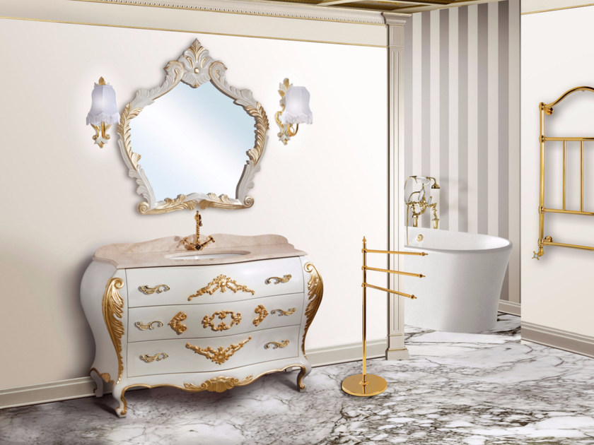 Lacquered vanity unit with drawers with mirror LIPARI CM41DC by LA BUSSOLA