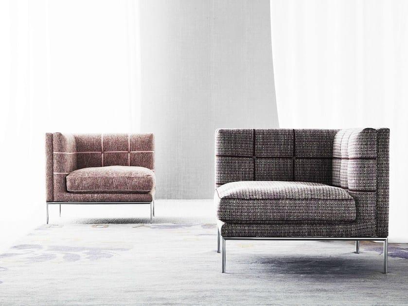 Sectional fabric armchair LIPS by ERBA ITALIA