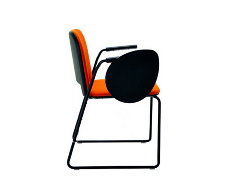 Fabric training chair with writing tablet LIPS S0056 B by Segis