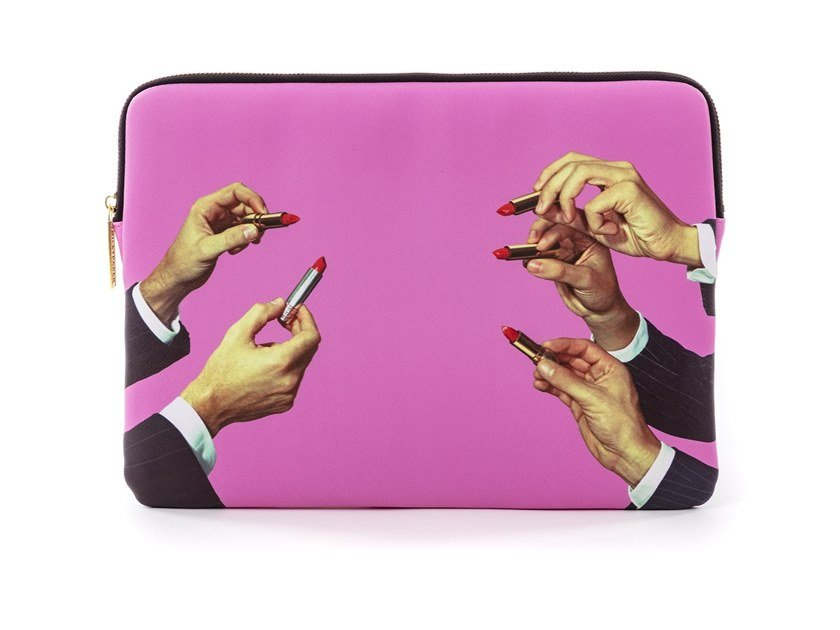 Custodia per laptop LIPSTICKS PINK | Custodia per laptop by Seletti