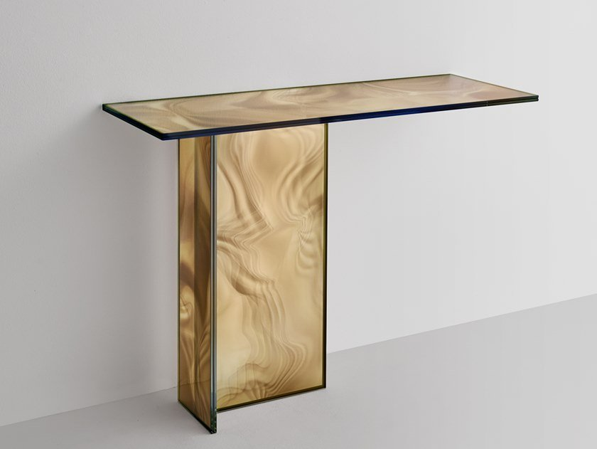 Rectangular crystal console table LIQUEFY | Console table by Glas Italia