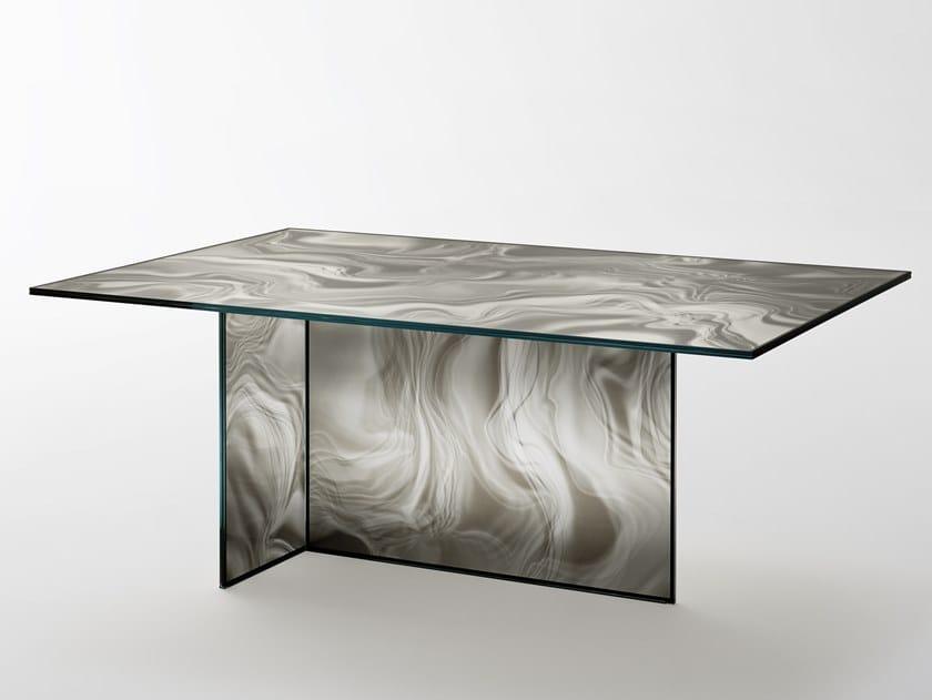 Rectangular crystal table LIQUEFY | Rectangular table by Glas Italia