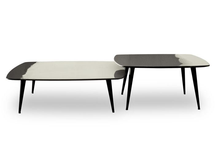 Lacquered square coffee table LIQUID COFFEE | Square coffee table by BAXTER