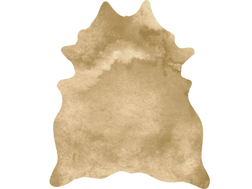 Leather rug LIQUID GOLD HIDE by Miyabi casa