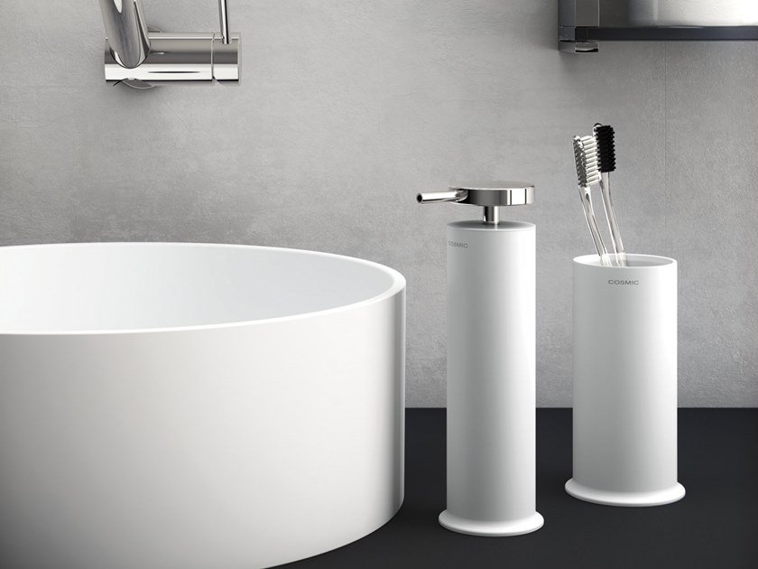 Liquid soap dispenser / toothbrush holder GEYSER | Liquid soap dispenser by Cosmic