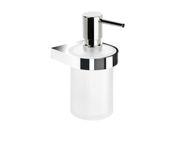 Wall-mounted glass liquid soap dispenser SYSTEM 800 | Liquid soap dispenser by HEWI