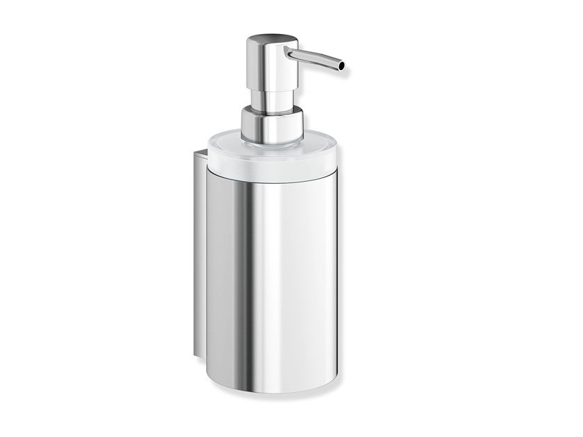 Wall-mounted crystal liquid soap dispenser SYSTEM 900 | Glass liquid soap dispenser by HEWI
