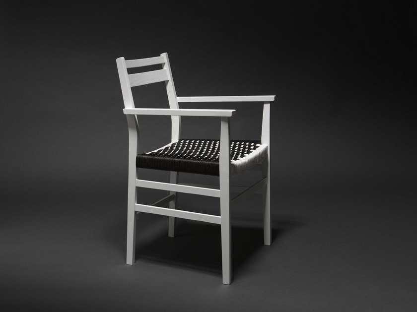 Ash chair with armrests LISBOA 02 by Very Wood