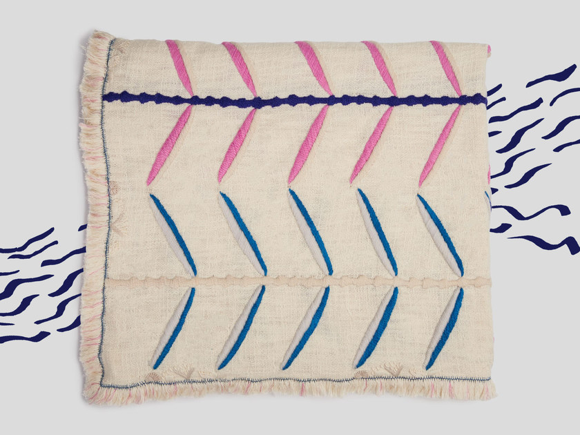 Hand embroidered blanket KAMBAL by Jupe by Jackie