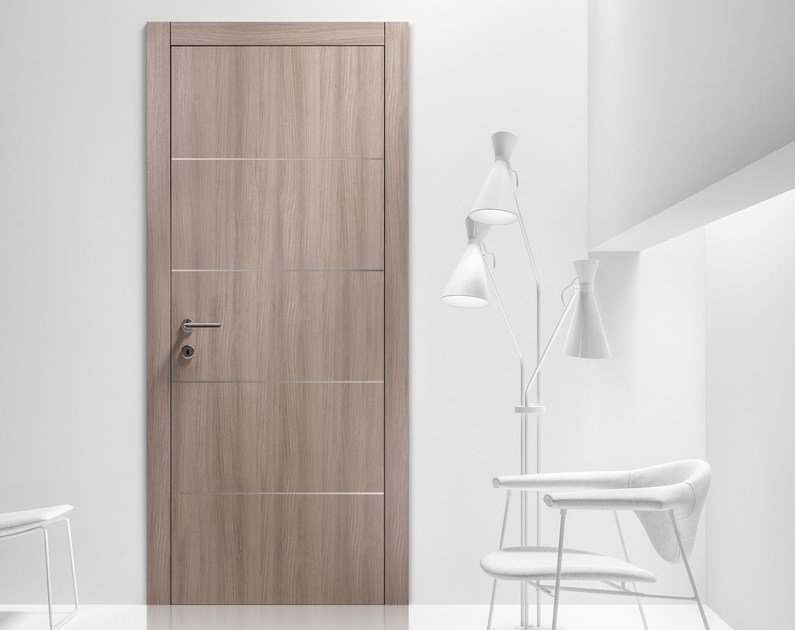 Hinged wooden door LISS by FERREROLEGNO