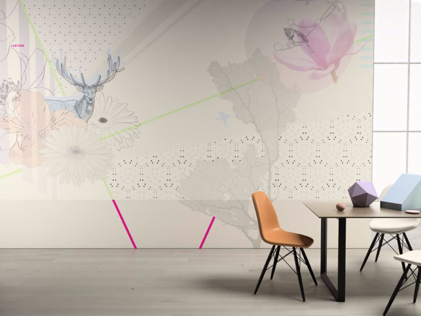 Motif washable vinyl wallpaper LISTEN by GLAMORA