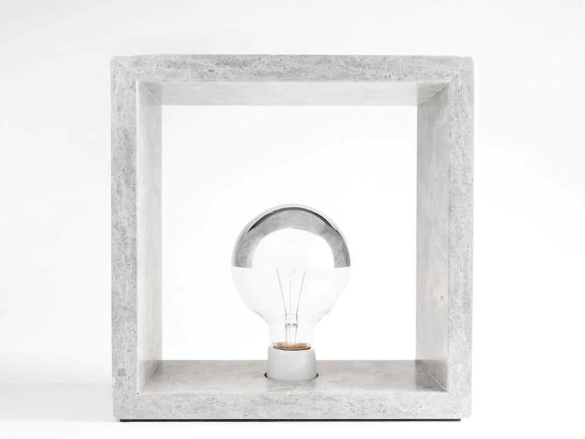 Marble table lamp LIT | Table lamp by Atelier Bussière