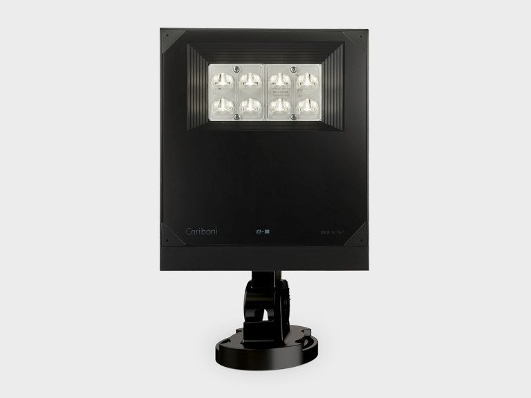 LED adjustable Outdoor floodlight LIT FLOOD 1 by Cariboni group