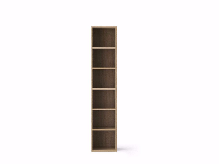 Contemporary style wooden bookcase LIT341 | Wooden bookcase by Punt