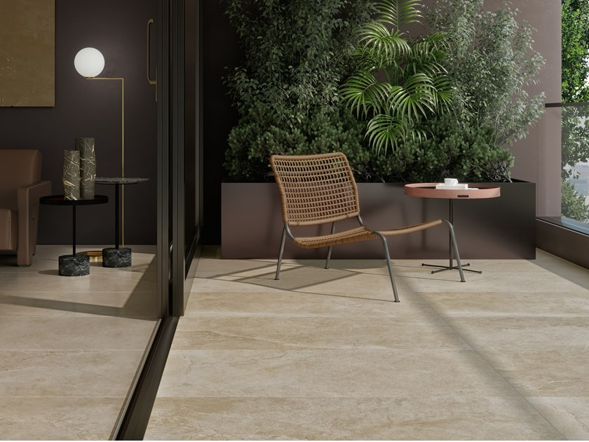 Pavimento/rivestimento in gres porcellanato effetto pietra LITHOS DESERT by COTTO D'ESTE