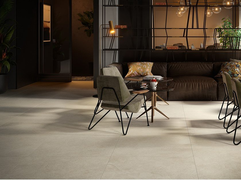 Porcelain stoneware wall/floor tiles with stone effect LITHOS MOON by COTTO D'ESTE